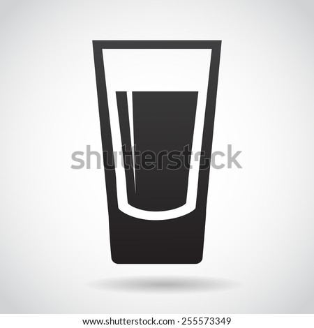 Shot glass icon isolated on white background. Vector illustration. - stock vector