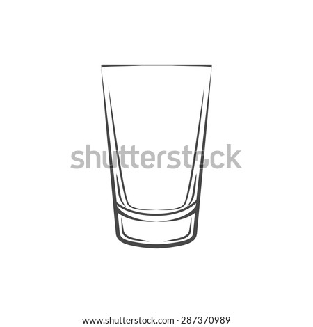 Shot glass. Isolated On White Background. Vector Illustration. - stock vector