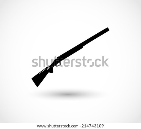 Shotgun icon vector - stock vector