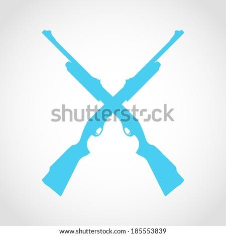 Shotgun Silhouette Icon Isolated on White Background - stock vector