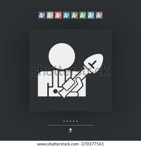 Shovel icon - stock vector