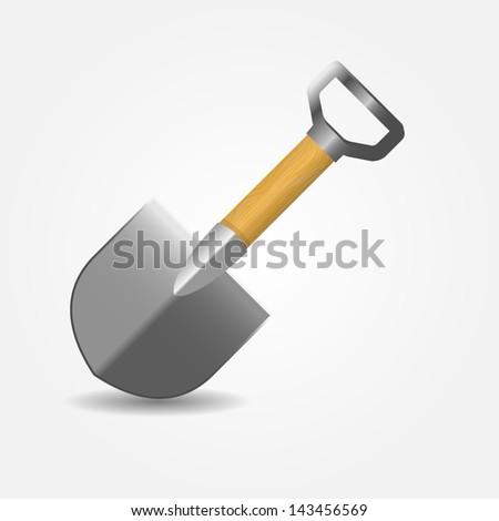 shovel  icon vector illustration - stock vector