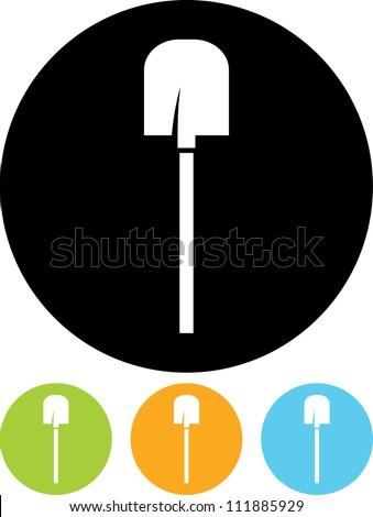 Shovel - Vector icon - stock vector