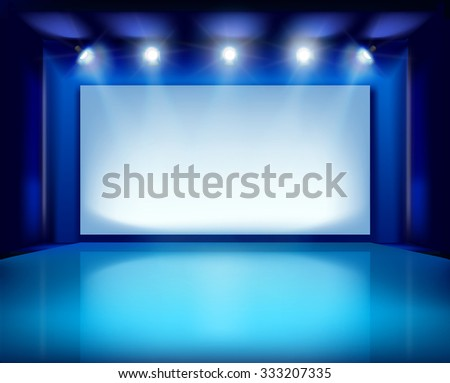 Show in art gallery. Vector illustration. - stock vector