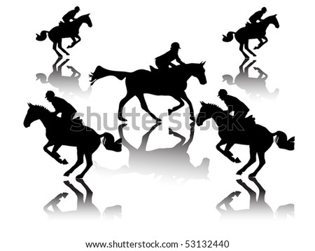 show jumper with shadow
