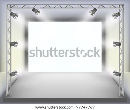 Show.  Vector illustration. - stock vector