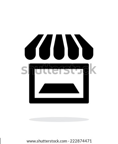Showcase icon on white background. Vector illustration. - stock vector