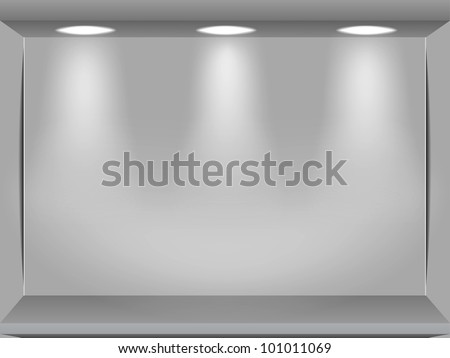 Showcase in the street shop - stock vector