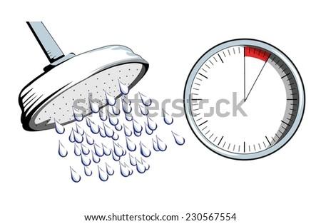 Shower Head Timer Stock Vector Shutterstock