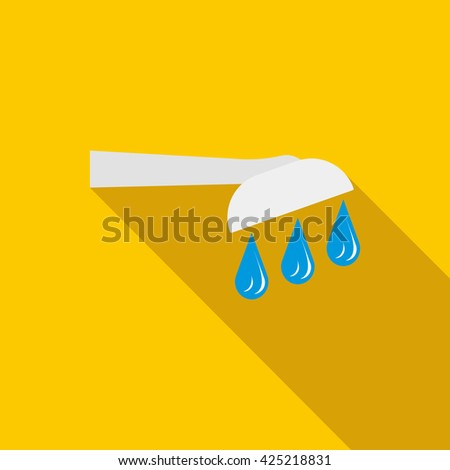 Shower icon in flat style - stock vector