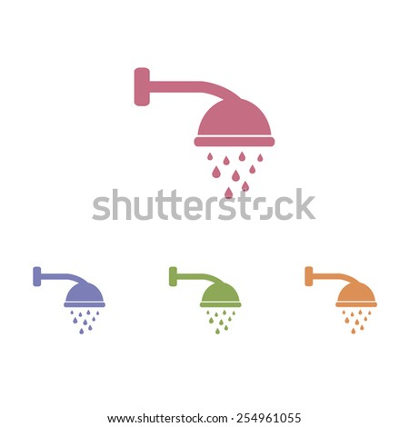 Shower icons - stock vector