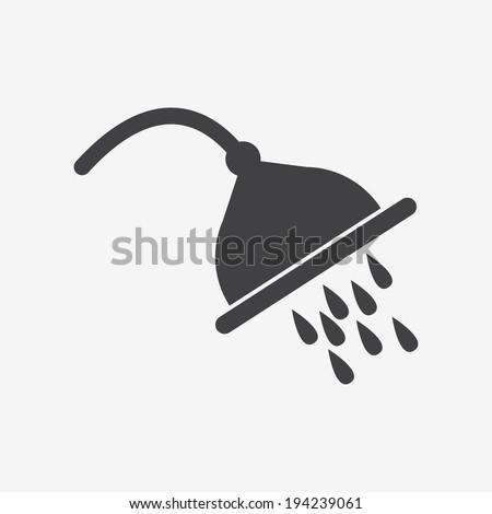 shower spray icon - stock vector
