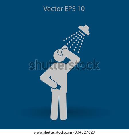 shower vector icon - stock vector