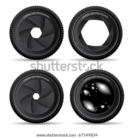 Shutter apertures - stock vector