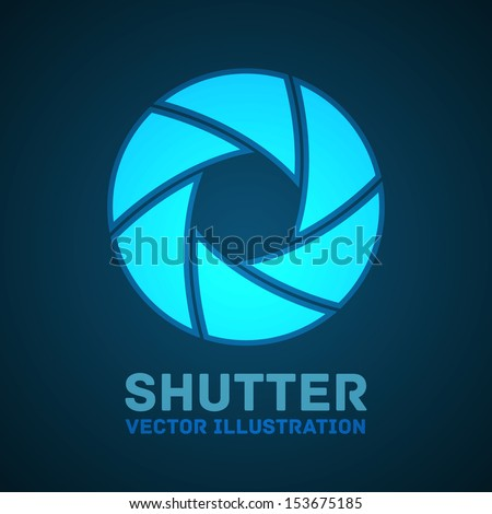 Shutter glowing background. Vector illustration. Stock Vector - stock vector