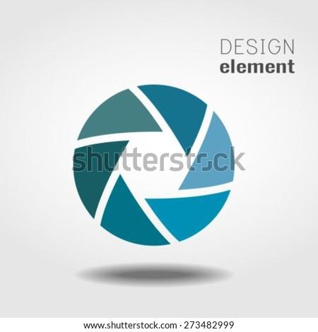 Shutter Icon or logo design template - stock vector