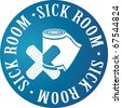 sick room pictogram - stock vector