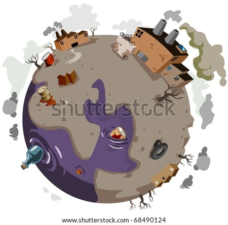 Sick World needs help. Vector Illustration