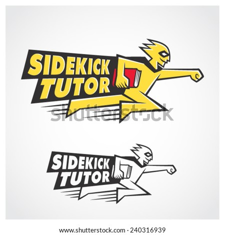Sidekick Tutor Symbol - stock vector