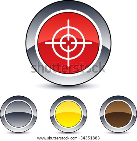 Sight glossy round web buttons. - stock vector