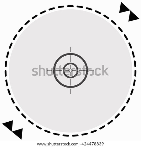 Sight icon Flat Design. Isolated Illustration.