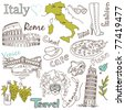 Sightseeing in Italy - stock vector
