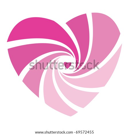 sign - a pink heart gift