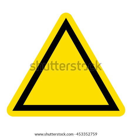 Sign blank hazard warning - stock vector
