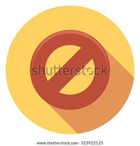 sign flat icon in circle - stock vector