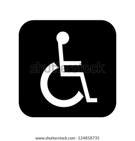 sign for disabled person vector illustration 	 - stock vector