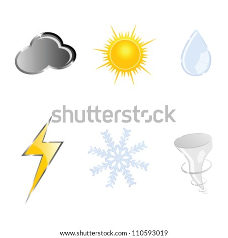 sign for weather vector illustration on a white background - stock vector