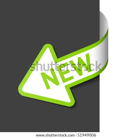 Sign New. Easy editable vector. - stock vector