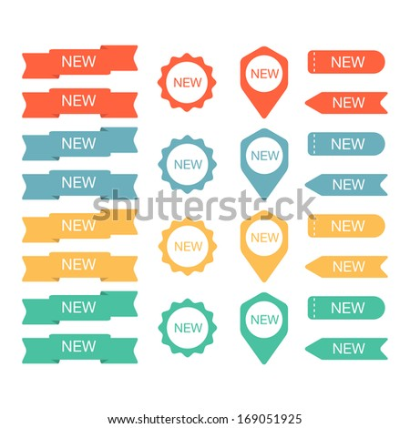 Sign New labels collection. Vector illustration - stock vector