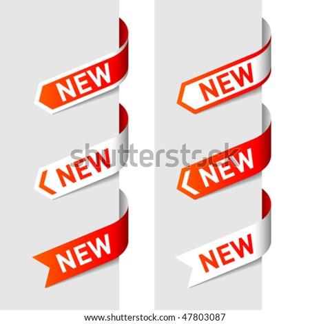 Sign New on the arrow - vector - stock vector