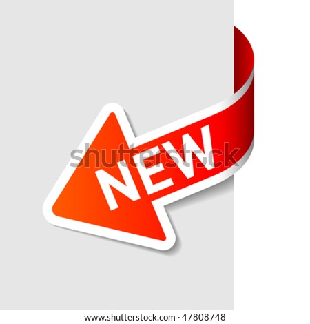 Sign New. Vector. - stock vector