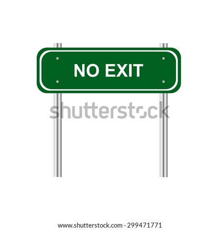 Sign no exit - stock vector