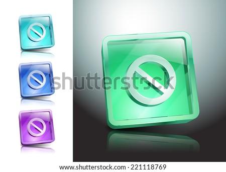 sign no stop ban warning icon symbol - stock vector