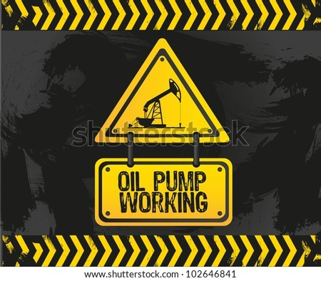 sign of an oil pump, vector illustration - stock vector