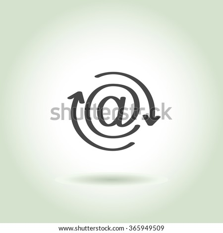 sign of at, e-mail security update, vector  - stock vector