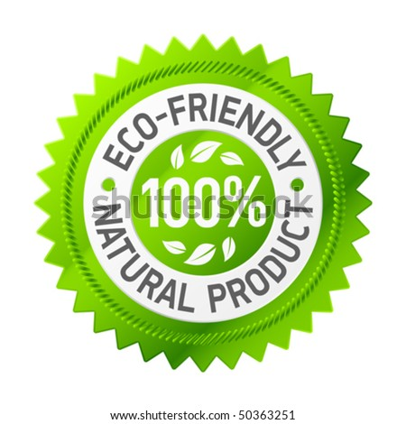 Sign of eco-friendly product. Vector. - stock vector