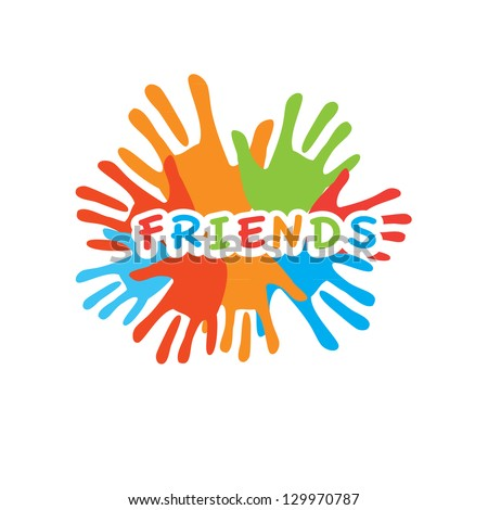 Sign Friends Vector Symbol Friendship Uniting Stock Vector 129970787