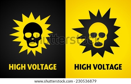 Sign of high voltage - stock vector