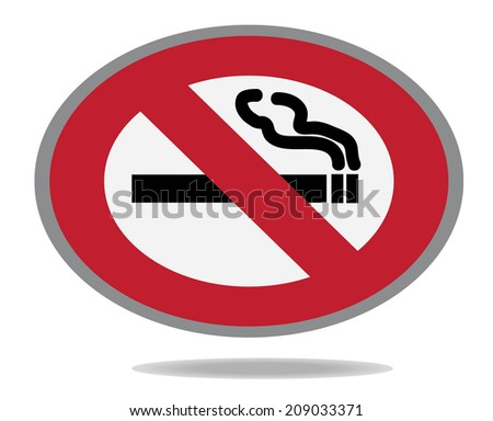 Sign of non smoking isolated on white background - stock vector