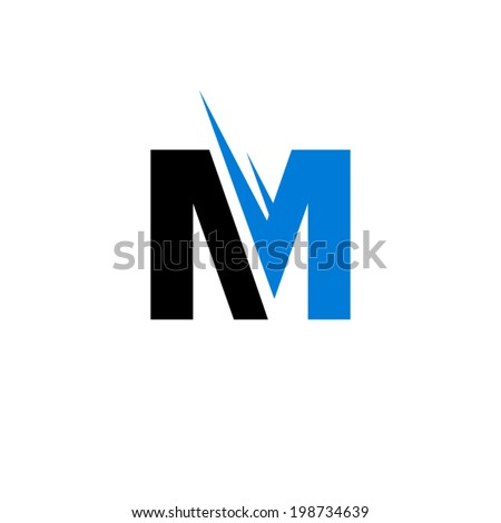 Sign of the letter M Branding Identity Corporate vector logo design template Isolated on a white background - stock vector