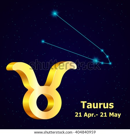 Sign of the zodiac Taurus is the starry sky, vector Illustration. - stock vector