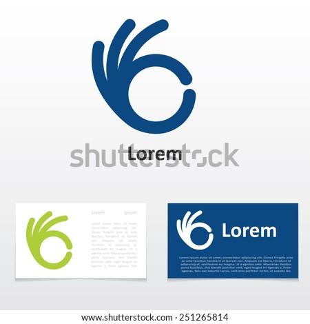 Sign ok logo design business card em vetor stock 251265814 sign ok logo design business card reheart Images