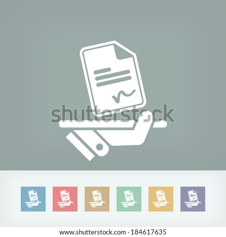 Sign on document icon - stock vector