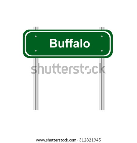 Sign road sity Buffalo