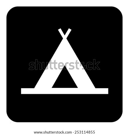 Sign sets - Tent - stock vector