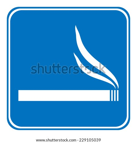 Sign smoking allowed on white background. Vector illustration. - stock vector